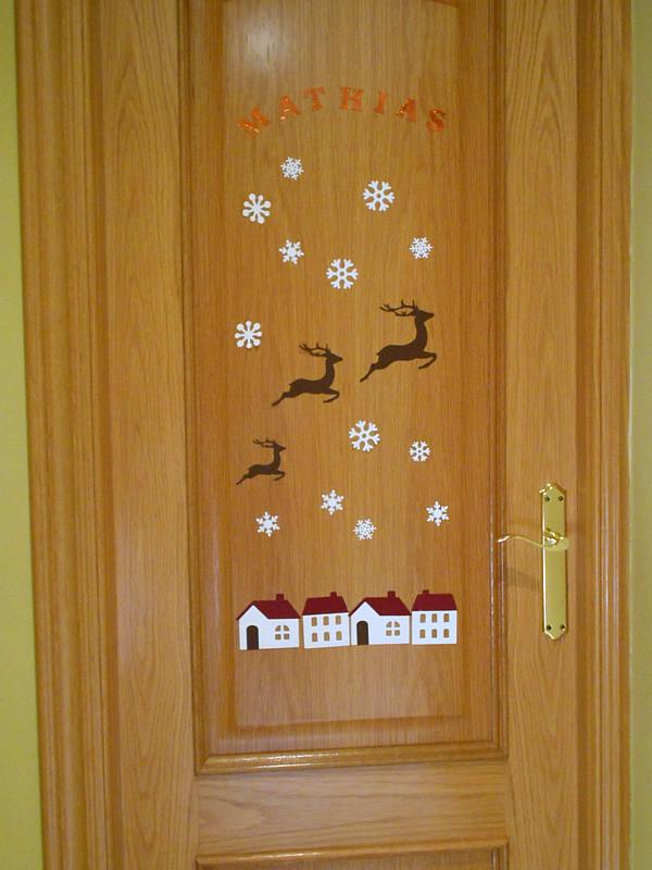 Puerta Mathias decorada