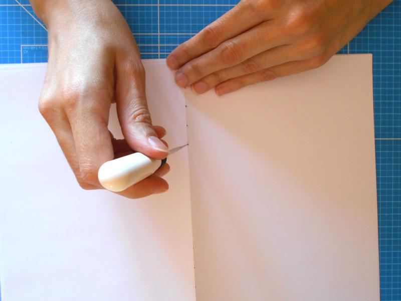 Perforando los cuadernillos