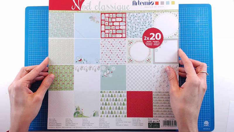 Bloc de papel estampado Noël classique e Artemio