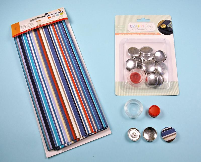 Cómo forrar botones con tela y la herramienta de Artemio